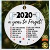2020 A Year To Forget Christmas Ornament 2