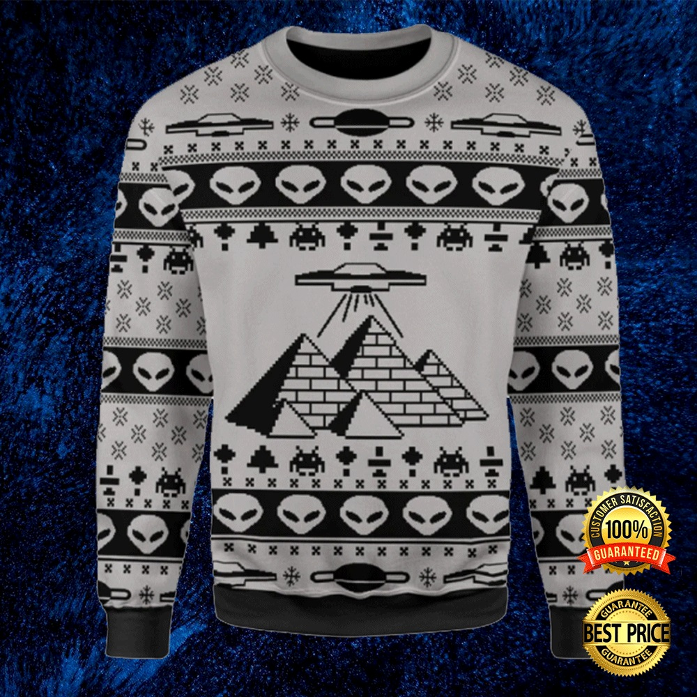 ANCIENT ALIEN PYRAMID UGLY SWEATER 4