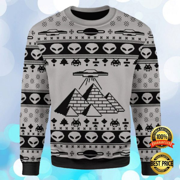 ANCIENT ALIEN PYRAMID UGLY SWEATER 3