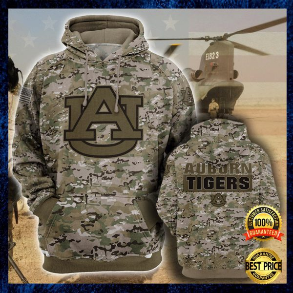 Army Camo Auburn Tigers All Over Printed 3d Hoodie 3