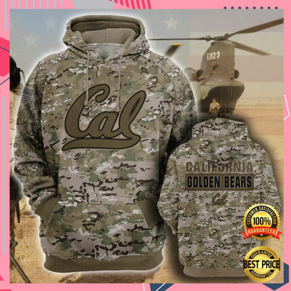 Army Camo California Golden Bears All Over Printed 3d Hoodie 3