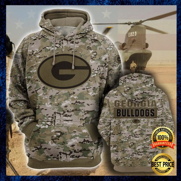 Army Camo Georgia Bulldogs All Over Printed 3d Hoodie 3