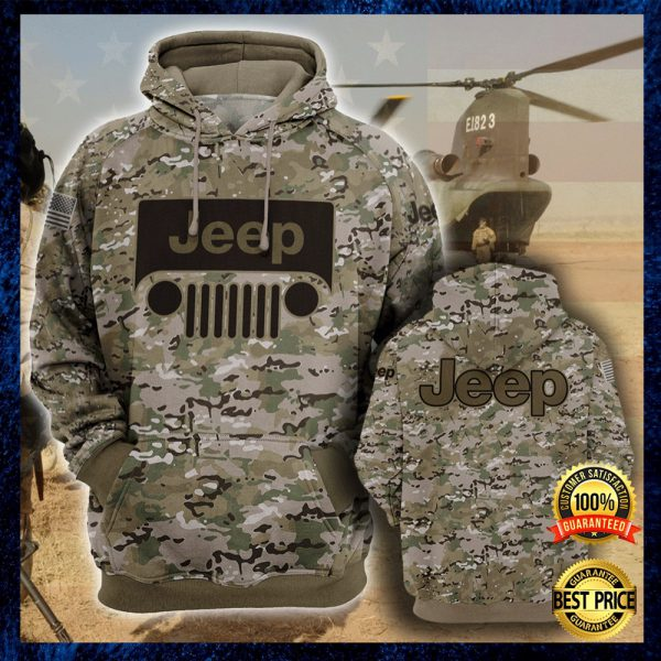 Army Camo Jeep All Over Printed 3d Hoodie 3