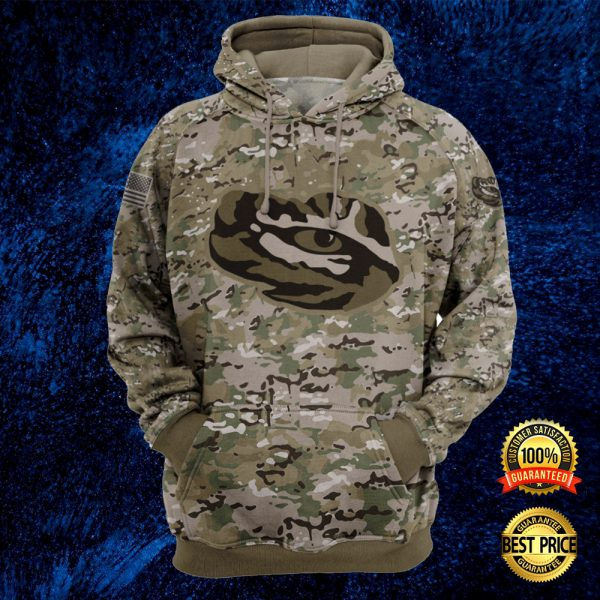 Army Camo Lsu Tigers All Over Printed 3d Hoodie 3