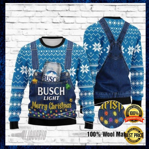 Busch Light Merry Christmas Ugly Sweater 2