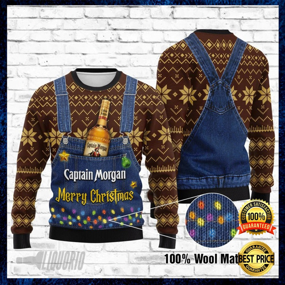 CAPTAIN MORGAN MERRY CHRISTMAS UGLY SWEATER 4