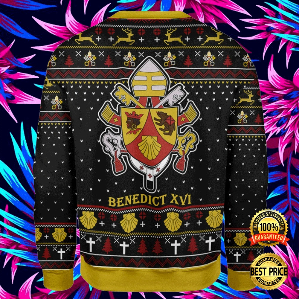 Coat Of Arms Of Pope Benedict Xvi Ugly Sweater 4