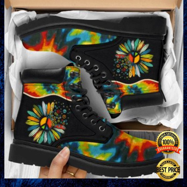 Colorful Hippie Sunflower Timberland Boots 3