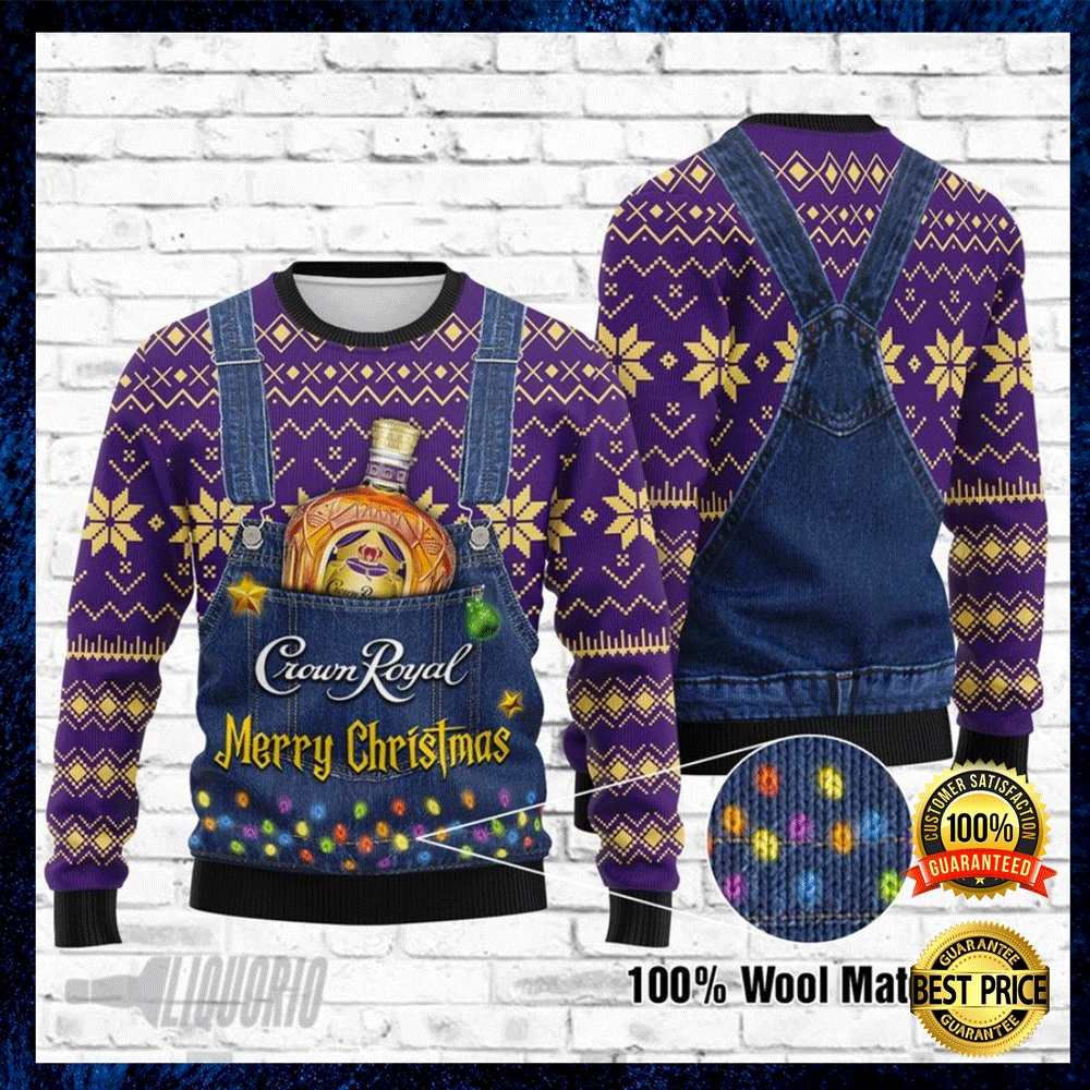 Crown Royal Merry Christmas Ugly Sweater 4