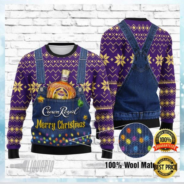 Crown Royal Merry Christmas Ugly Sweater 3