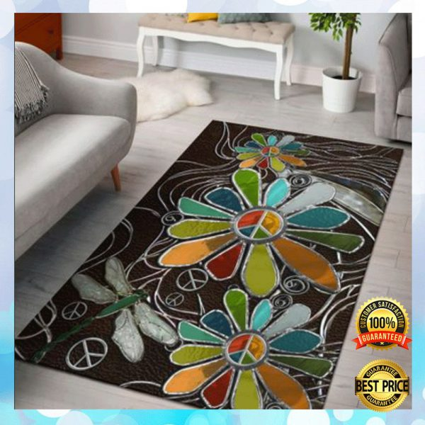 Dragonfly And Sunflower Hippie Soul Rug 3