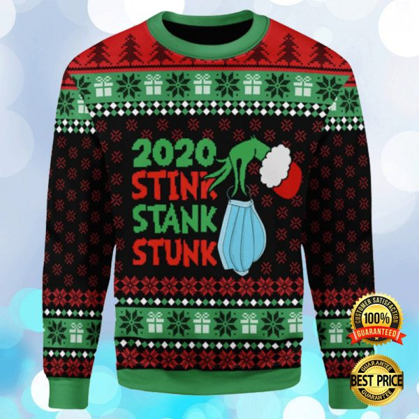 Grinch 2020 Stink Stank Stunk Ugly Sweater 3