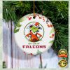 Grinch I Hate People But I Love Atlanta Falcons Christmas Ornament 2