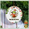 Grinch I Hate People But I Love Baltimore Ravens Christmas Ornament 2