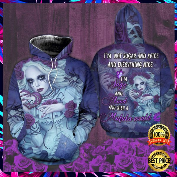 Harley Quinn I'm Not Sugar And Spice And Everything Nice I'm Late And Hood And Wish A Mufuka Would All Over Printed 3d Hoodie 2