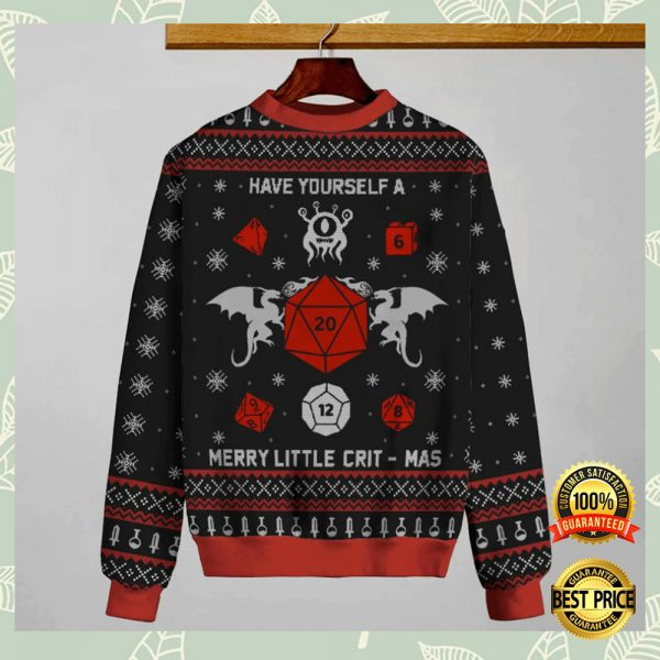 Have Yourself A Merry Little Crit-Mas Ugly Sweater 3