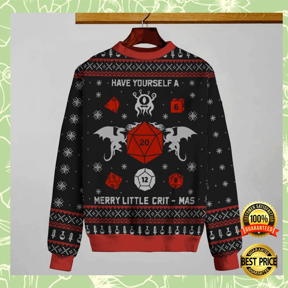 Have Yourself A Merry Little Crit-Mas Ugly Sweater 4