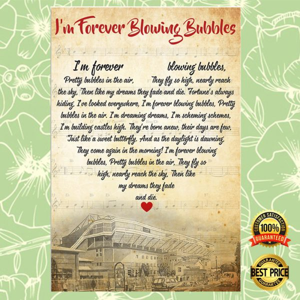 I'm Forever Blowing Bubbles Lyric Poster 3