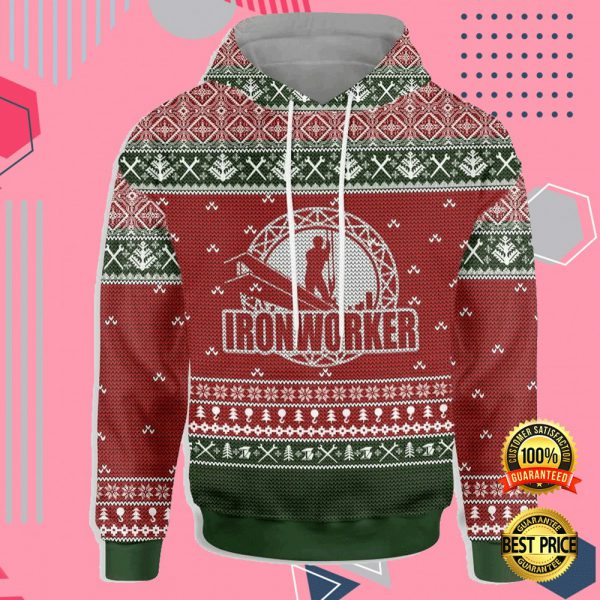 Ironworker All Over Printed 3d Ugly Christmas Hoodie 3