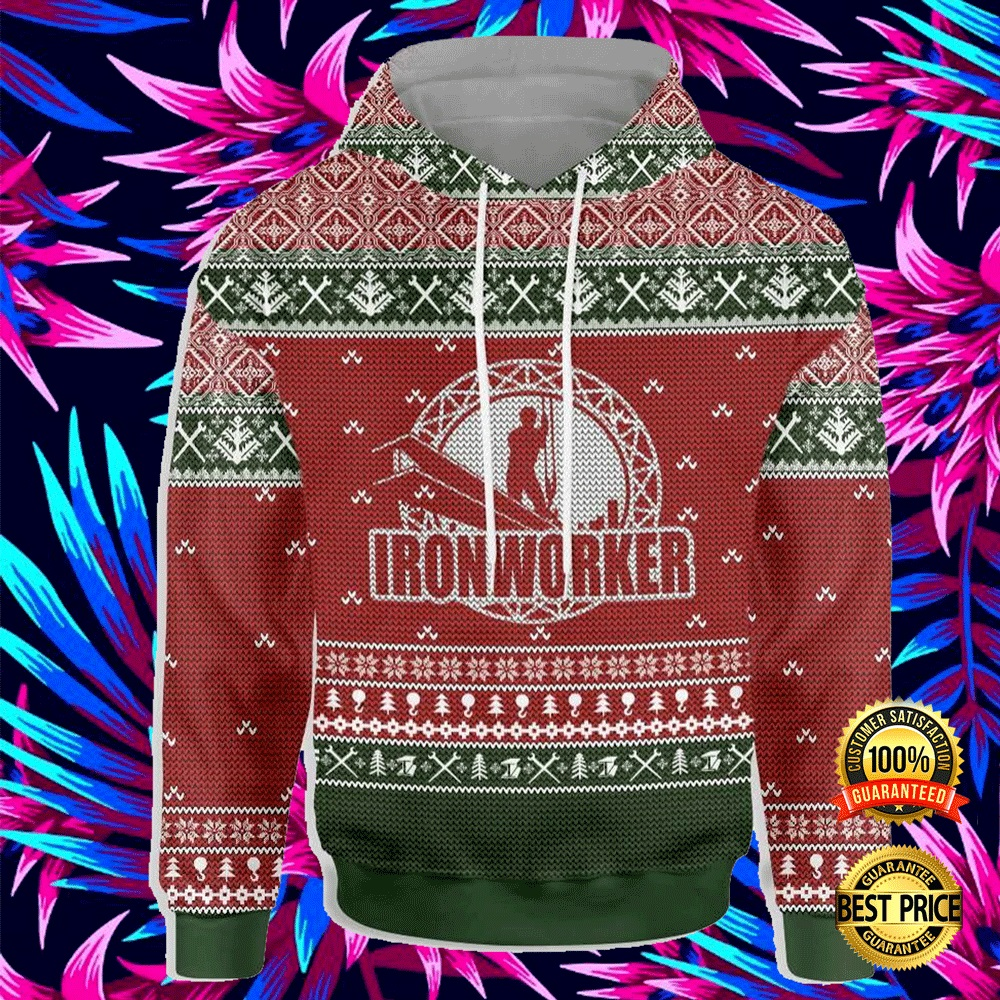 Ironworker All Over Printed 3d Ugly Christmas Hoodie 4