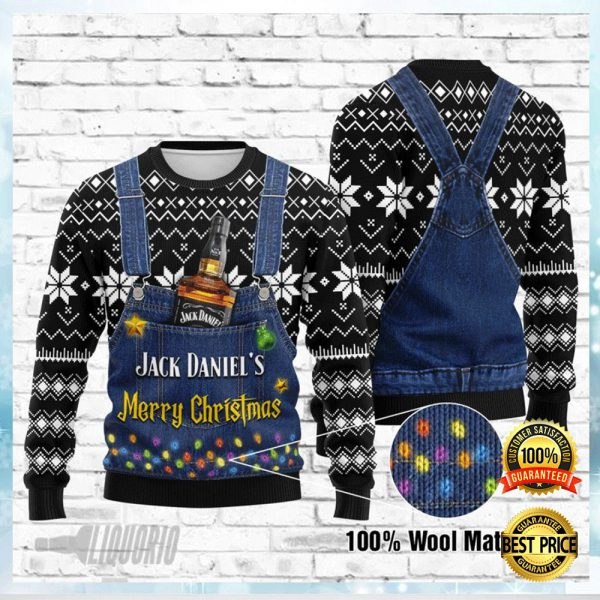 JACK DANIEL'S MERRY CHRISTMAS UGLY SWEATER 3