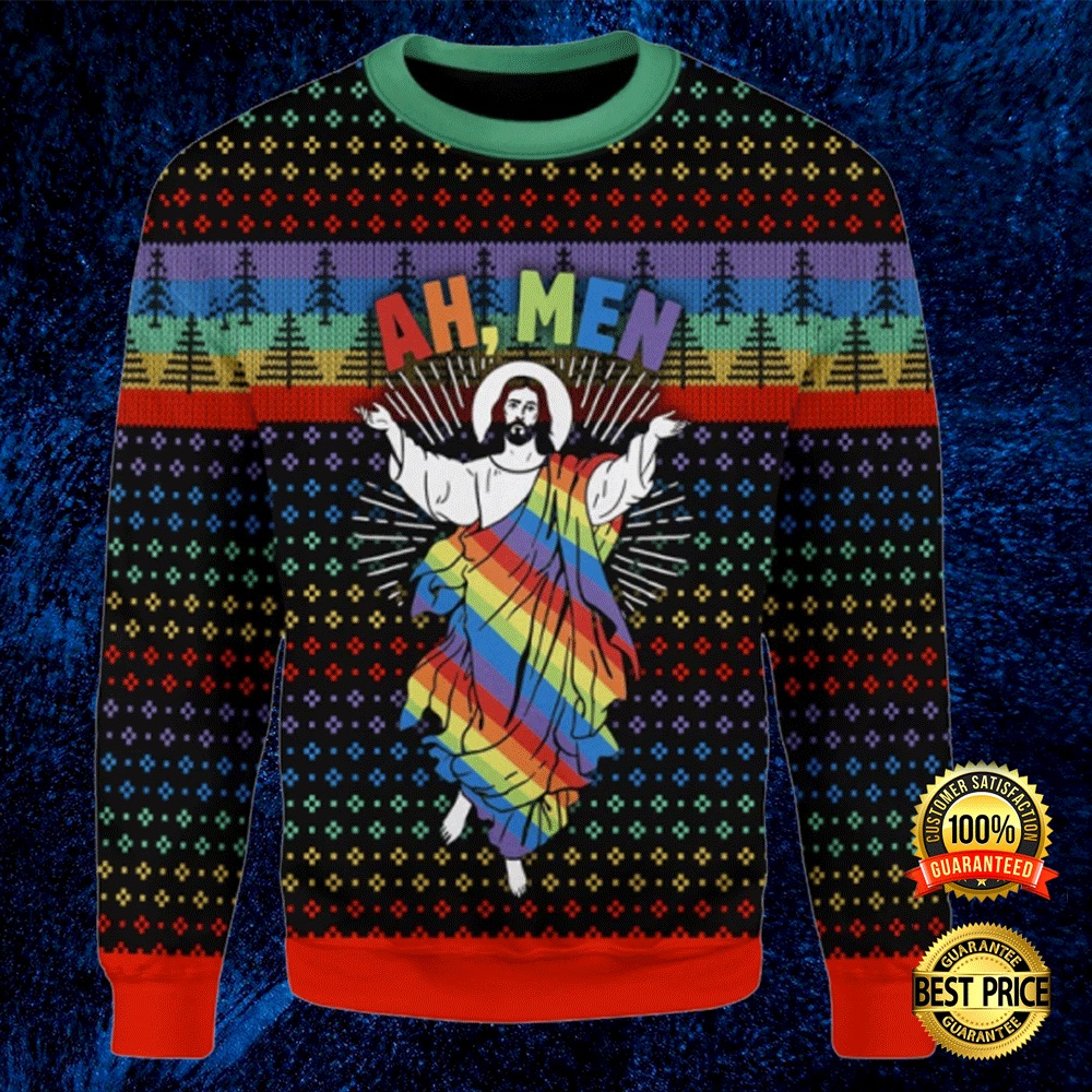 LGBT JESUS AH MEN UGLY SWEATER 4