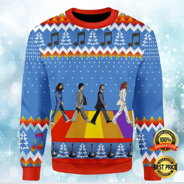 Lgbt The Beatles Abbey Road Ugly Sweater 3