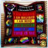 LGBT I AM BRAVE I AM BRUISED I AM WHO I AM MEANT TO BE THIS IS ME QUILT 1