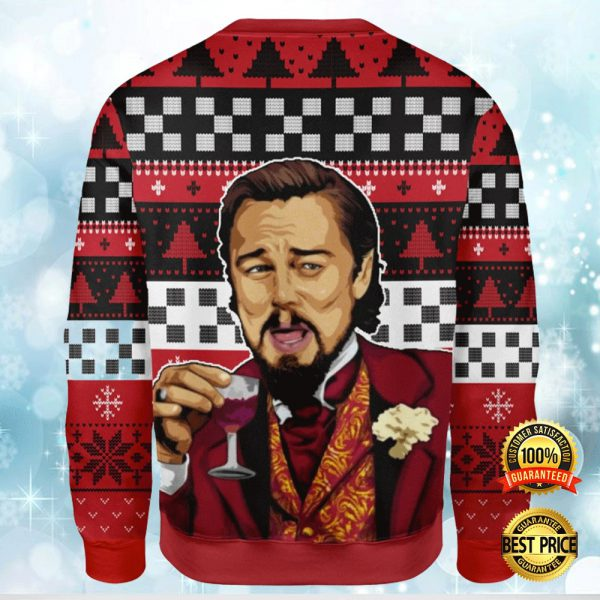LEONARDO DICAPRIO LAUGHING MEME UGLY SWEATER 3