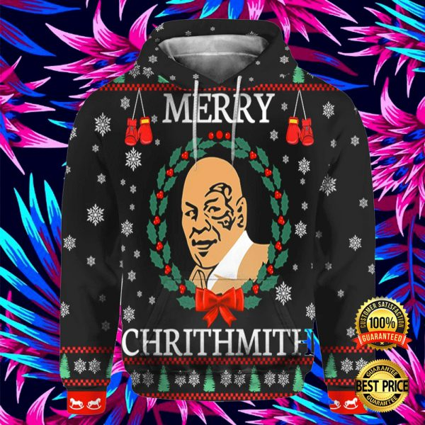 Mike Tyson Merry Chrithmith All Over Printed 3d Hoodie 3