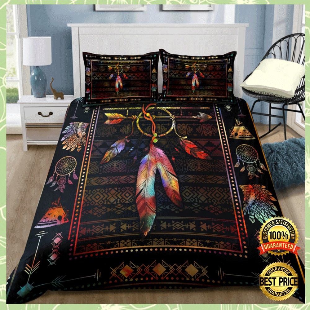 NATIVE AMERICAN FEATHER BEDDING SET 4