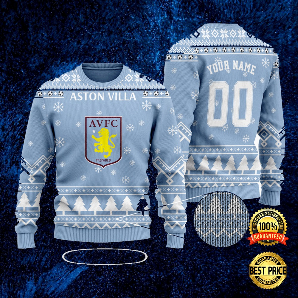 Personalized Aston Villa Ugly Sweater 4