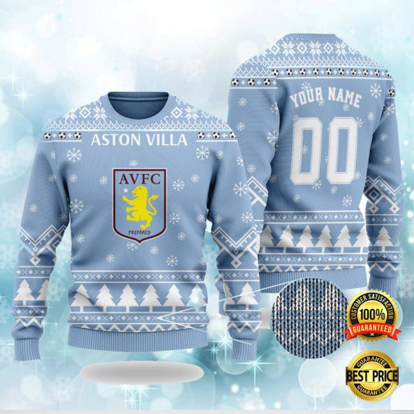 Personalized Aston Villa Ugly Sweater 3