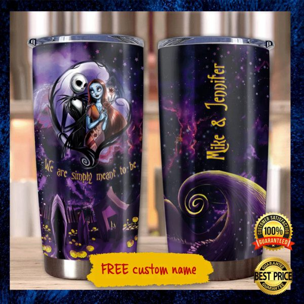 PERSONALIZED JACK SKELLINGTON AND SALLY WE ARE SIMPLY MEANT TO BE TUMBLER 3