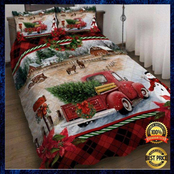 Red Truck Christmas Bedding Set 3