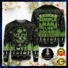 Skull I'm A Simple Man I Like Doobies And Boobies Ugly Sweater 1