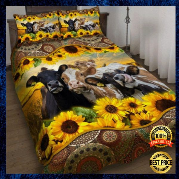 Sunflower Cattle Bedding Set 3