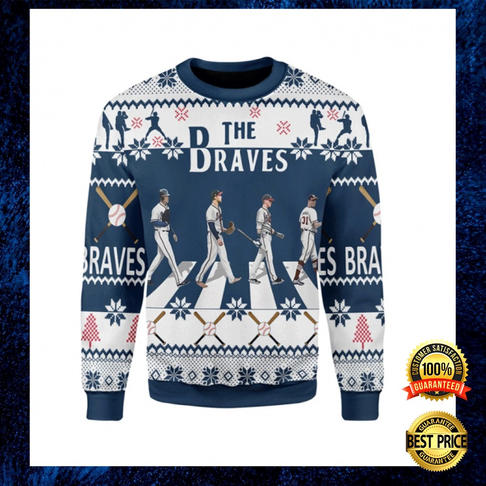 THE BRAVES WALKING ABBEY ROAD UGLY SWEATER 4