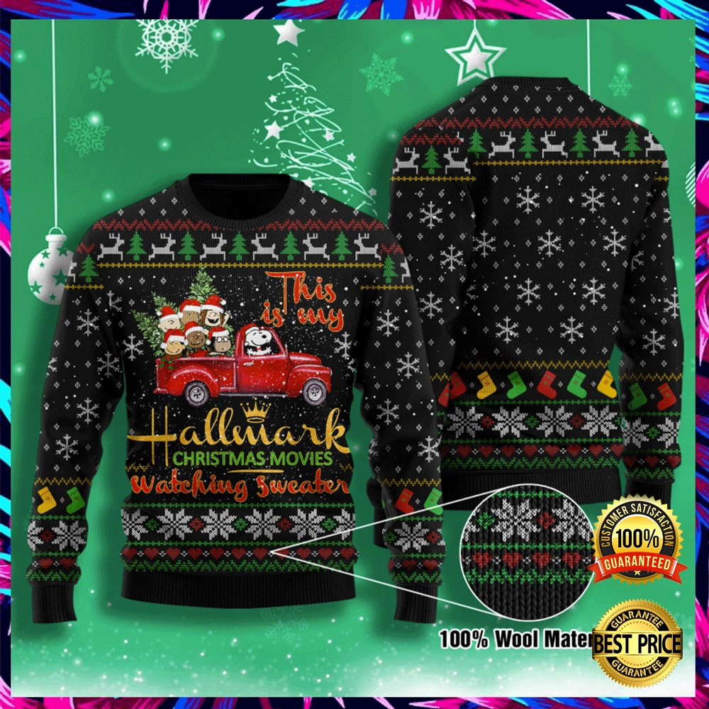 This Is My Hallmark Christmas Movies Watching Sweater Ugly Sweater 4
