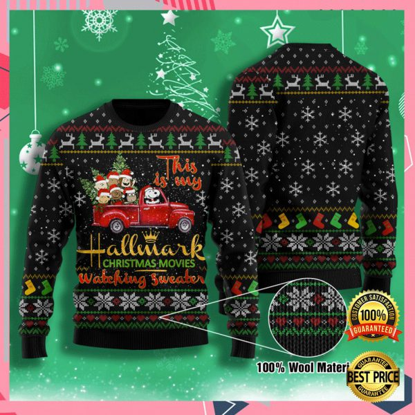 This Is My Hallmark Christmas Movies Watching Sweater Ugly Sweater 3