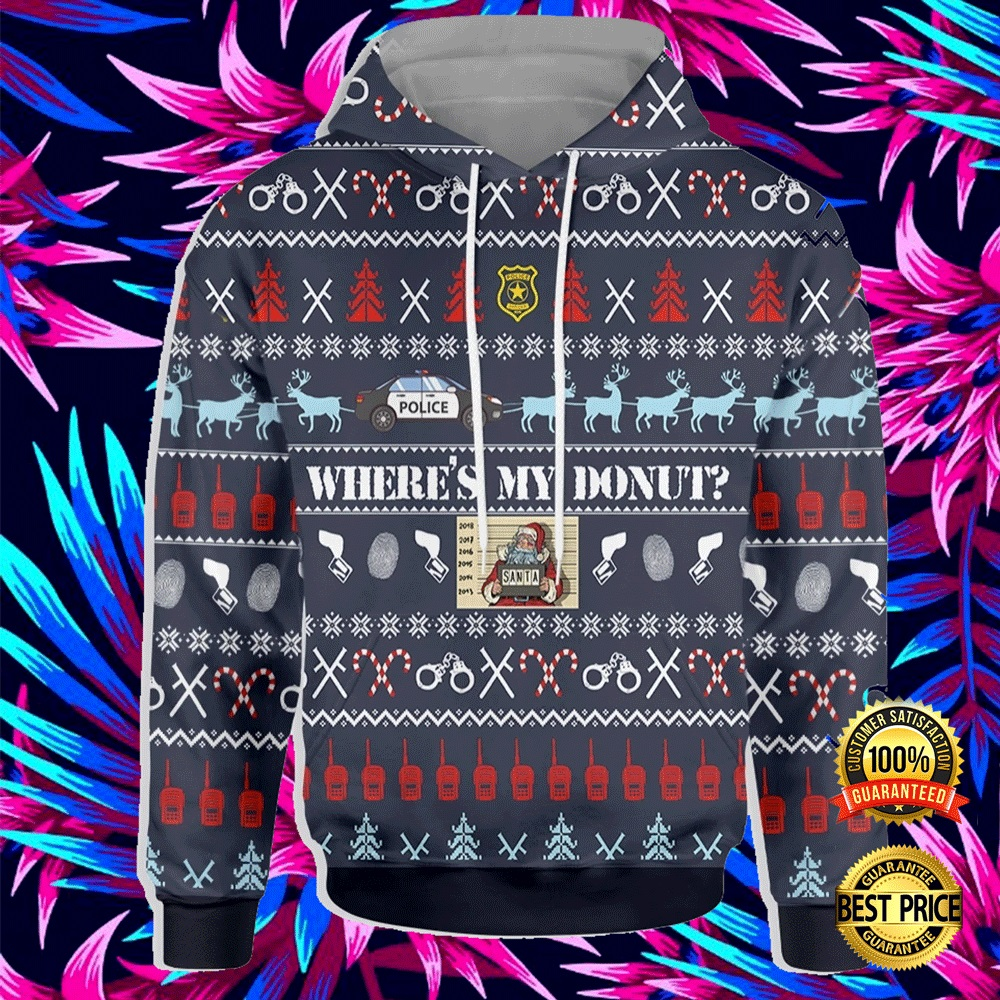 WHERE'S MY DONUT ALL OVER PRINTED 3D UGLY CHRISTMAS HOODIE 4
