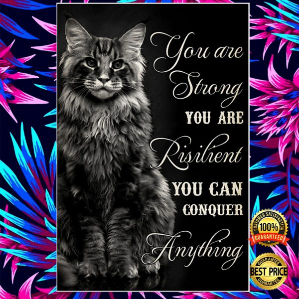 Cat You Are Strong You Are Resilient You Can Conquer Anything Poster 3
