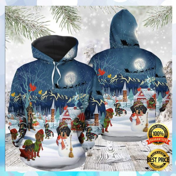 Dachshund Christmas All Over Printed 3d Hoodie 3