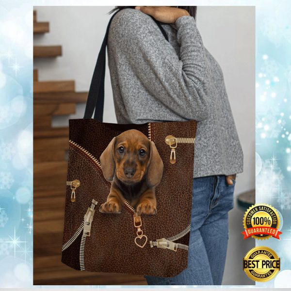 DACHSHUND ZIPPER TOTE BAG 3