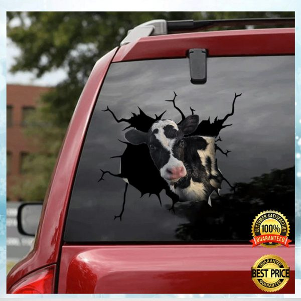 Dairy Cow Crack Decal 3