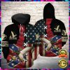 Eagle Confederate Battle Flag All Over Printed 3d Hoodie 2