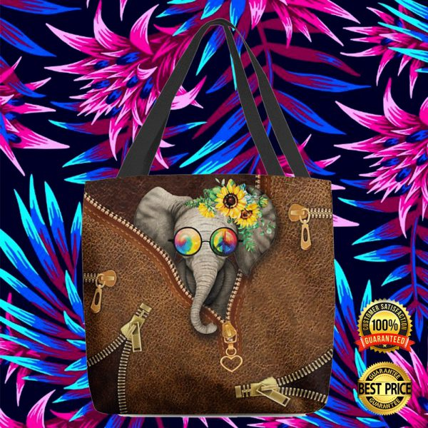 Hippie Elephant Tote Bag 3