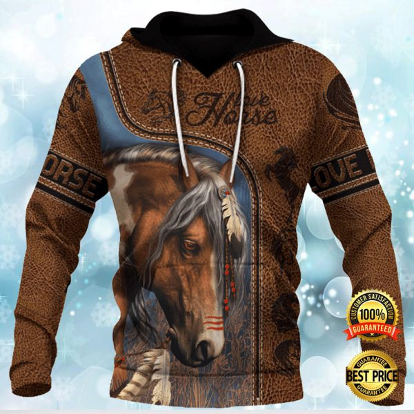 Love Horse Native All Over Printed 3d Hoodie 3
