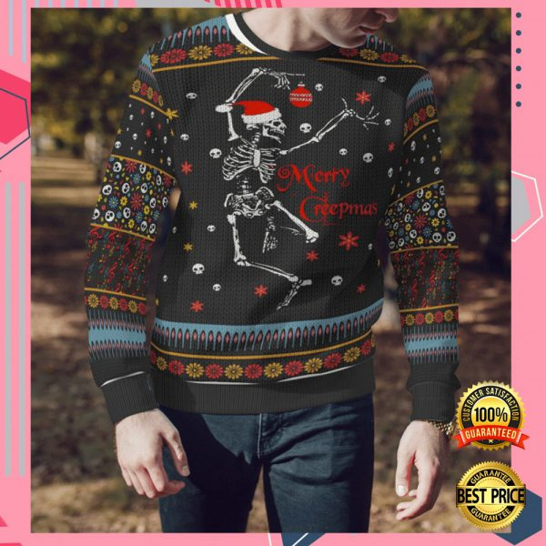 Skeleton Merry Creepmas Ugly Sweater 3