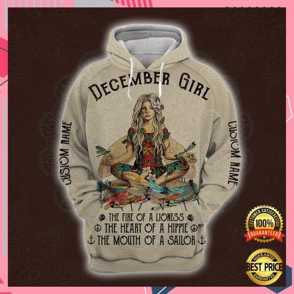 Yoga December Girl He Fire Of A Lioness The Heart Of A Hippie The Mouth Of A Sailor All Over Printed 3d Hoodie 3